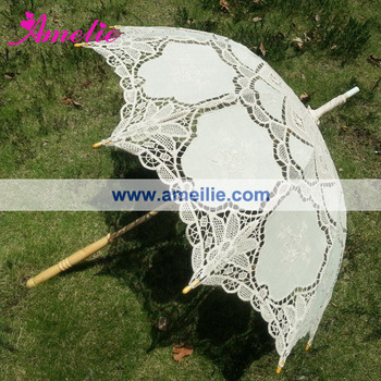 A0187 Latest design Victorian Wedding Lace Parasol