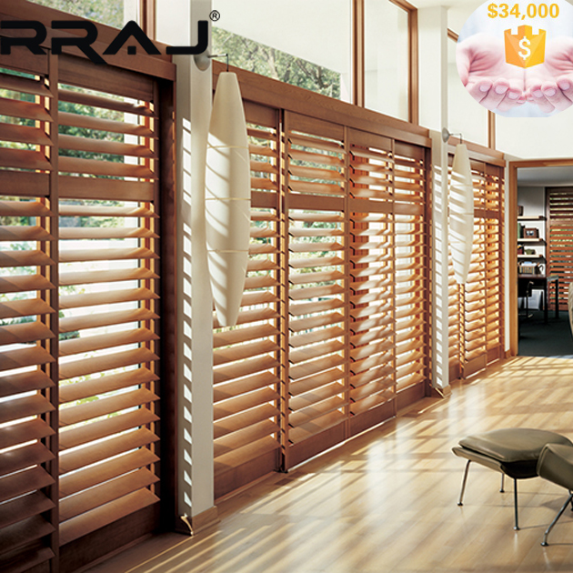 RRAJ Interior Wooden Venetian Blind with Real Timber