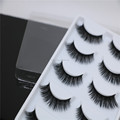 5 Pairs/Box Handmade Mink Fur Pretty Eyelash 3D Strip Lashes Thick Fake Faux Eyelashes mink lash