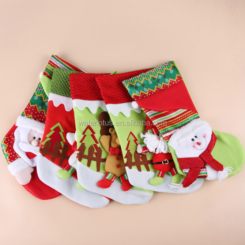2016 New Product Chinese home decoration custom christmas stockings cheap bulk christmas gifts wholesale christmas ornaments