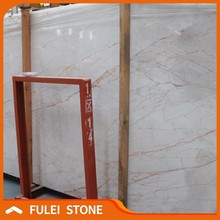 Cheap price red line white onyx marble with red veins in india