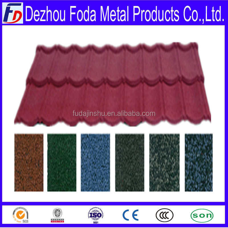 classical type sand coated metal roof tiles made popular Philippines Market