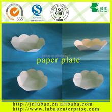 printed cake tray with food grade PE coated paper