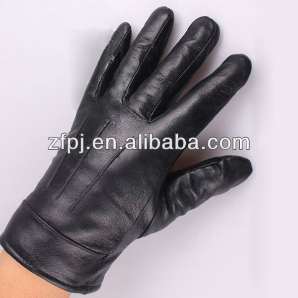 Men yellow high grade leather gloves fashion