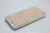 elegant beautiful cute girl pattern plating lagging plasitc case for iphone 5