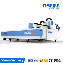 gweike 1500x3000mm fiber tube laser cutter sheet metal 1000w fiber laser cutting machine