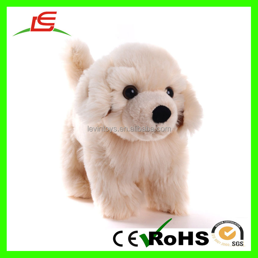 12'' New Cute Puppy Stuffed Animal Toys Dolls Plush Beige White Dog