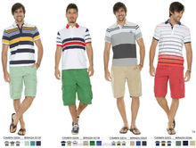 summer mens cool bright casual style cargo bermuda