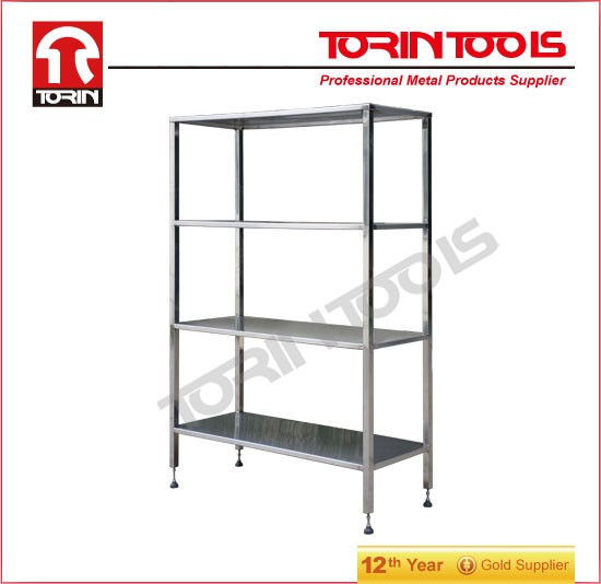 Stainless Steel Work Table Four layer shelf DZ23