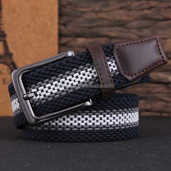 Elastic stretch woven belts