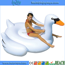 Adult Pool Float Raft Boats Inflatable Swan Shaped Floating Lounge Chair