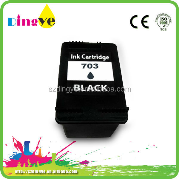 Excellent quality refillable for hp 703 compatible ink cartridge