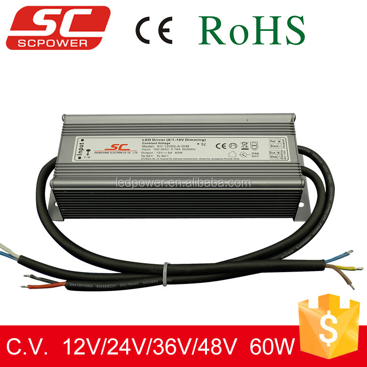 0-10 dimmalbe constant voltage and ip66 led driver 12v dimmable 70w