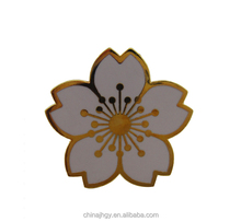 Custom made flower metal bulk lapel pin for men
