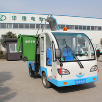 electric garbage transport vehicle with luxury all-closed driving cab and hydraulic discharging system