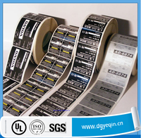 factory price heat resistant electric label sticker for electronic products