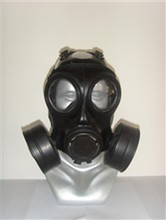 2015 new product full face gas mask, chemical respirator with two cartridges