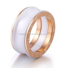 Rose gold finger ring design for women with price wedding rings white ceramic concaved