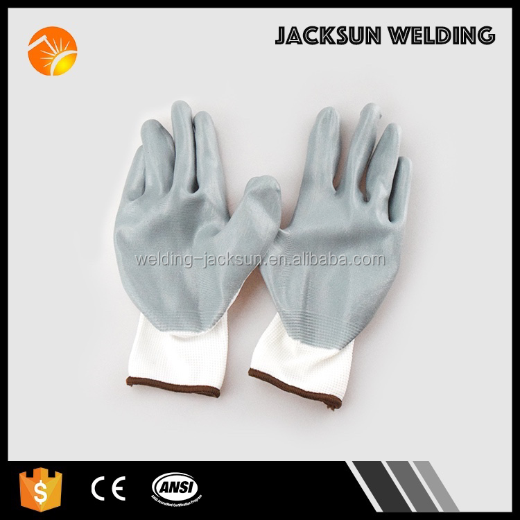 Hot selling smooth nitrile coating gloves provides superior grip performance