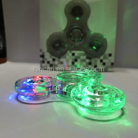 Factory price new arrival tri LED hand spinner and spinner fidget toys with multi colors