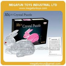56pcs Crystal Puzzle Series Rabbit Shaped 3D Puzzle