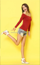 New product fashtion woman hot images sexy designs OEM women T-shirt/A-line sexy blouse sex night wear