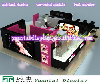 Eyebrow Threating Kiosk For Mall Beauty Eyebrow Kiosk For