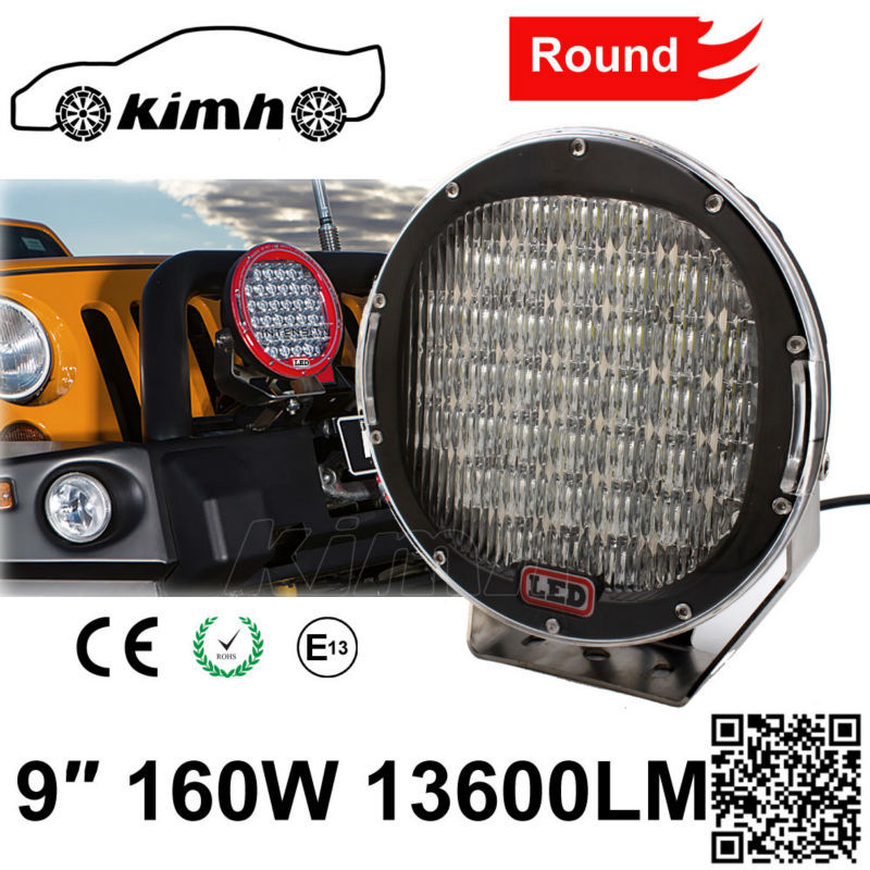 Offroad 4wd SUV Boat Light Bulb 9 Inch 160W electric led work lamp