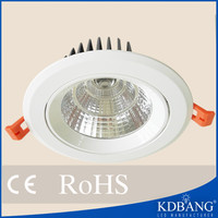 Plastic ring COB Round LED Ceiling Light