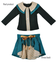 Designed Girls Kids Dot Pattern T-shirt + Skirt Dress 2 piece set SV001058