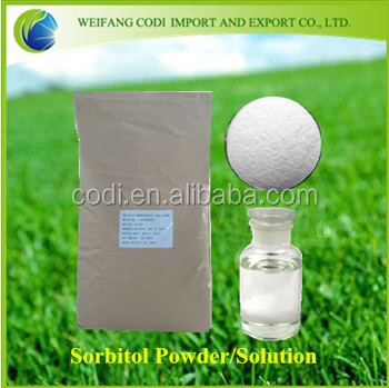 High quality food additive Sorbitol powder/liquid 70% with low price