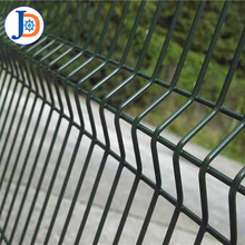 High strength galvanized curved no climb wire mesh fence for boundary wall