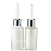different size silk screen printing white round empty plastic PE ampoule mini bottles for cosmetic