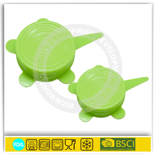Food wrap film universal flexiable silicone stretch lids