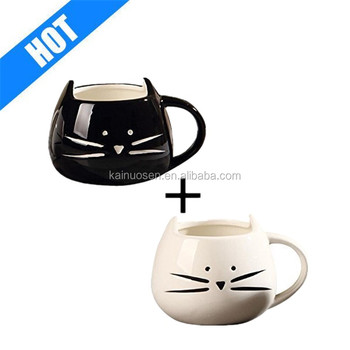 Black & White Cat Coffee Ceramic Mugs