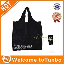 online shopping Reusable rolling Grocery Shopping Tote Bag black mouse