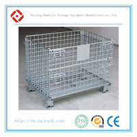 CE Certificate China Steel Folding Wire Mesh Storage Cargo Cage