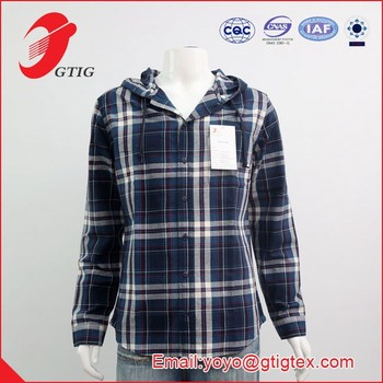 Men's casual shirt with a hoodie