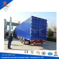 Top ranking aluminum alloy cargo box dry van semi trailer for hot sale