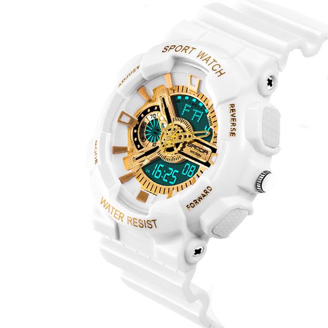 2017 SANDA Fashion Mens Watches Top Brand Luxury Sport Watch Men Waterproof Shock Resistant Military Clock Customize logo
