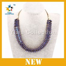 fashion statement necklace with 2015 trendy necklace glitter powder necklace