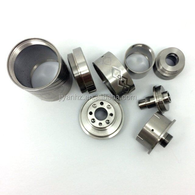 Customized ROHS anodized aluminum electronic cigarette accessories/cnc metal brass E-cigarettes parts with chrome plated