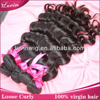 18''aliexpress brazilian hair loose curly