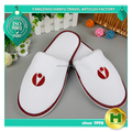 Dense Velvet Hotel Slippers / Personalized Unisex Warm Velour Spa Slippers / Chinese Anti-slip Eco-friendly EVA Sole Slippers