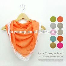 orange triangle lace scarf
