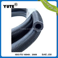 yute high quality sae 30r 10 5/16 inch 8mm black fuel line hose for motorcycle