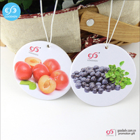 Promotion custom printed fruit pattern and fruit scent air freshener for car&home