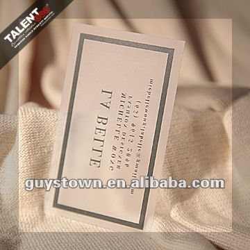 custom private printing transparent plastic business card