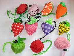 lovely folding fruit and rose shopping bag