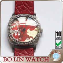watchsolid 316stainless steel case/japan movement/genuine leather/10atm sagittarius factory price wrist watch